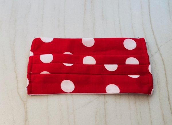 Red Polka Dot Face Mask